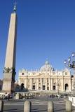 El santo Peters Square en Vaticano Imágenes de archivo libres de regalías