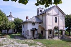 El santuario de Ghiffa en Italia foto de archivo