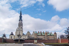 El santuario de Jasna Gora en Czestochowa, Polonia Imagen de archivo libre de regalías