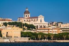 El santuario de nuestra señora de Bonaria Cagliari, Cerdeña, Italia Imágenes de archivo libres de regalías
