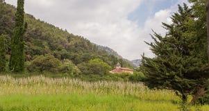 El santuario de Santa Eugenia del Congost Fotografía de archivo libre de regalías