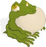 El sapo verde grande stock de ilustración