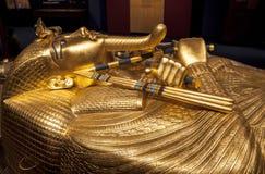 El sarcófago de Tutankhamun Fotografía de archivo libre de regalías
