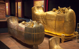 El sarcófago de Tutankhamun Imagenes de archivo