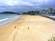 El Sardinero beach Royalty Free Stock Photos