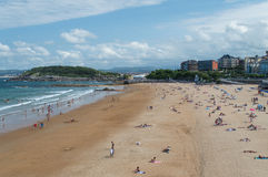 El Sardinero beach Royalty Free Stock Photography