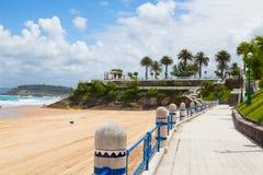 El Sardinero beach promenade, Santander, Spain Stock Images