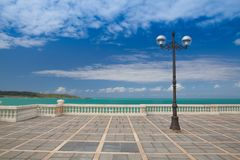 El Sardinero beach promenade, Santander, Spain Royalty Free Stock Image