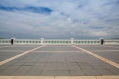 El Sardinero beach promenade, Santander, Spain Royalty Free Stock Images