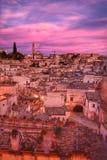 El Sassi de Matera, Italia Fotos de archivo libres de regalías