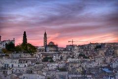 El Sassi de Matera, Italia Imágenes de archivo libres de regalías