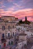 El Sassi de Matera, Italia Foto de archivo libre de regalías