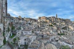 El Sassi de Matera, Italia Fotografía de archivo libre de regalías