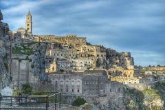 El Sassi de Matera, Italia Fotografía de archivo