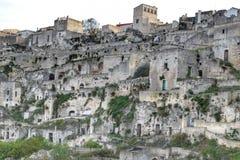 El Sassi de Matera, Italia Imagen de archivo libre de regalías