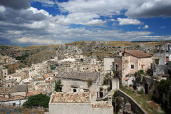 El Sassi de Matera, Italia del sur. Fotos de archivo libres de regalías