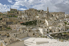El Sassi de Matera, Italia del sur. foto de archivo