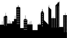 El scape de la ciudad siluetea el icono Elemento del ejemplo de los paisajes urbanos Las muestras y el icono de los símbolos se p libre illustration