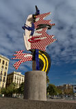 EL-Schutzkappende Barcelona, Spanien Lizenzfreie Stockbilder