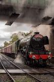 El Scotsman del vuelo en el ferrocarril del este de Lancashire fotos de archivo libres de regalías