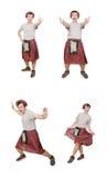 El scotsman divertido aislado en blanco Fotografía de archivo libre de regalías