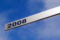 El señalar a 2008 Fotos de archivo libres de regalías