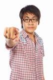 El señalar adulto joven chino Foto de archivo libre de regalías