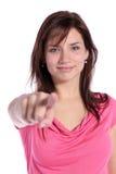 El señalar con el dedo Imagen de archivo