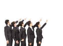 El señalar de la mano de las personas del asunto Imagen de archivo