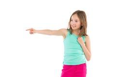 El señalar de la niña Foto de archivo libre de regalías