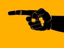 El señalar del dedo stock de ilustración