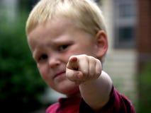 El señalar del niño Foto de archivo libre de regalías