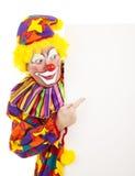 El señalar del payaso de circo Foto de archivo libre de regalías
