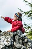 El señalar solo de Little Boy lejos Imágenes de archivo libres de regalías