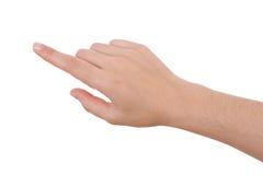 El señalar de la mano aislado en blanco Imagen de archivo libre de regalías