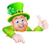 El señalar del duende del día del St Patricks Imágenes de archivo libres de regalías