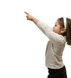El señalar del niño Imagen de archivo