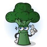 El señalar del personaje de dibujos animados del bróculi Imagen de archivo libre de regalías