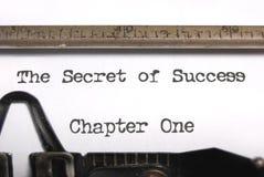 El secreto del éxito fotos de archivo