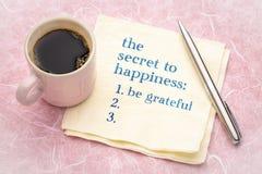 El secreto a la felicidad foto de archivo libre de regalías