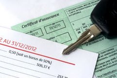 El seguro auto organiza Imágenes de archivo libres de regalías