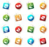 El seguro da iconos Imágenes de archivo libres de regalías