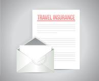 El seguro del viaje documenta el ejemplo ilustración del vector