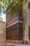 El Sehemy房子Mashrabiya门面,一个老奥托曼时代历史的房子在中世纪开罗,埃及,在1648年最初建立 免版税库存照片