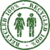 El sello de goma recicla Fotografía de archivo