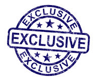 El sello exclusivo muestra el producto limitado y raro Imagenes de archivo