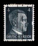 El sello impreso en Alemania muestra la imagen de Adolf Hitler Imagenes de archivo