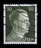 El sello impreso en Alemania muestra la imagen de Adolf Hitler Fotos de archivo libres de regalías