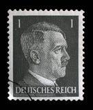 El sello impreso en Alemania muestra la imagen de Adolf Hitler Imagen de archivo