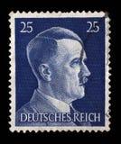 El sello impreso en Alemania muestra la imagen de Adolf Hitler Imagen de archivo libre de regalías